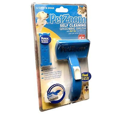 PET ZOOM New DOG CAT GROOM SELF CLEANING GROOMING BRUSH TRIMMER