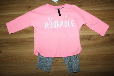 NEXT girls ADORABLE jumper joggers outfit 9-12 months NEW *I'll combine postage*