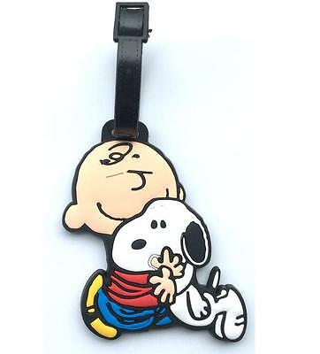 Cute Snoopy Peanuts Silicone Luggage Tags Holder Travel Suitcase Baggage Holder