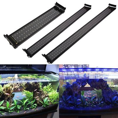 9-118cm LED Lámpara Acuario TOP Luces para Pecera Blanco Azul +Interruptor UE CH