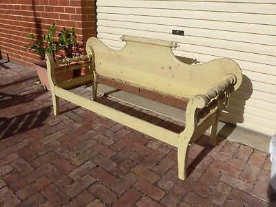 Antique furniture chaise lounge  miners couch .