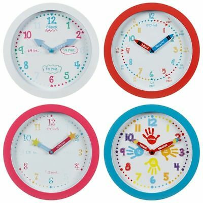 KIDS Learn to Tell the Time Wall Clock Brand New Style handy clock Colorful NEW!