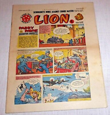 LION Comic - August 29th 1959 - Very good condition