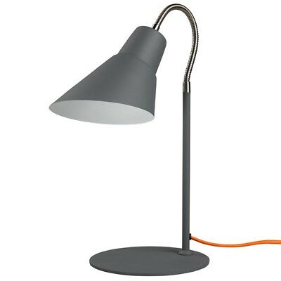 Bedside Table Lamp Night Lights Study Office Desk Vintage Retro Concrete Grey