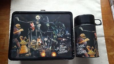 NECA Rare Nightmare Before Christmas Collectable Lunchbox and flask