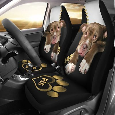 Pitbull Puppy Car Seat Cover Set of 2