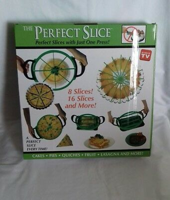 The Perfect Slice As Seen On Tv Slices Cakes Pies Quiches Fruit & More New.