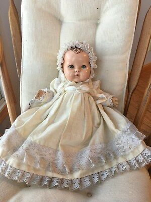 """Rare early Old vintage Effanbee Dy-Dee baby doll 15"""" unusual marking on back TLC"""