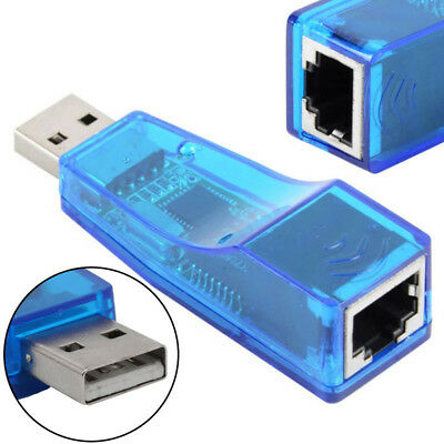 USB 2.0 To LAN RJ45 Ethernet 10/100Mbps Network Card Adapter For PC ASS