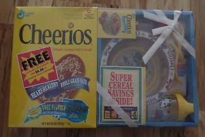 FULL General Mills CHEERIOS Cereal box 1997 BABY / TODDLER Breakfast SET sealed