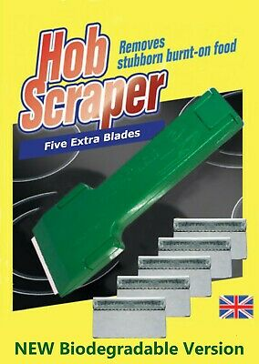Ceramic Hob Tile Oven Scraper + 5 Extra Blades - Uk Manufactured
