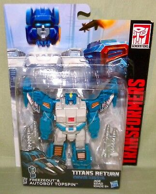 FREEZEOUT & AUTOBOT TOPSPIN Transformers Generations Titans Return Deluxe Class