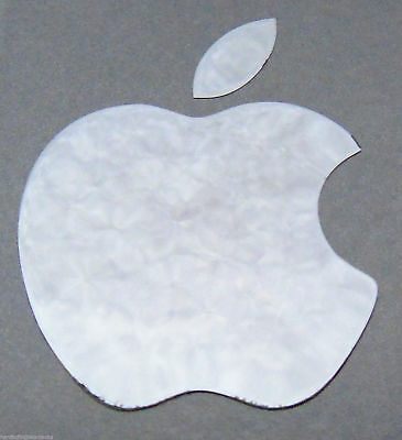 2 x Silver Apple Logo Decal for iPhone Metallic Stickers 14mm x 17mm Approx