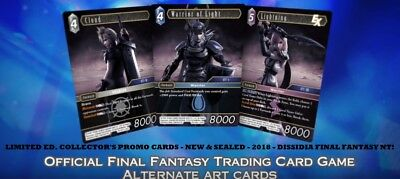 Dissidia Final Fantasy Ff Nt Game Collector's Trading Promo Foil Card New Sealed