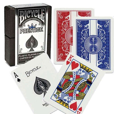 Bicycle Prestige  Playing Cards Red or Blue! 100% Plastic cards! #1018425