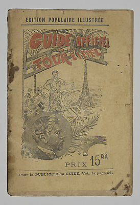Guide Officiel De La Tour Eiffel 1895 - Edition Populaire Illustree