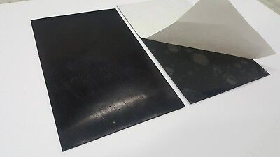 "NEOPRENE RUBBER SHEET ADHESIVE ONE SIDE 1/8 X 3"" x 4"" WIDE FREE SHIPPING"