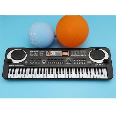 61 Keys Electronic Piano Keyboard with Microphone Educational Toy Kids Gift US