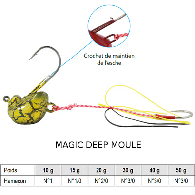 Leurre MAGIC DEEP TENYA MOULE Sparidés Dorades Lieu sparidae sea bream pagrus