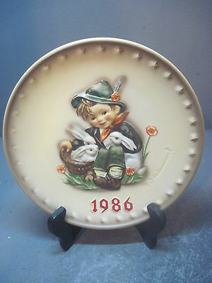 1986 Hummel Goebel Annual Plate #279 Playmates 16Th In Series Basket Of Rabbits
