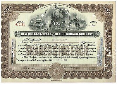 New Orleans, Texas and Mexico Railway Co., 1932, rare