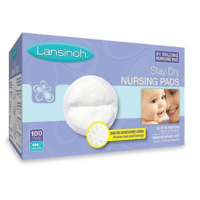 Lansinoh Stay Dry Disposable Nursing Pads Breastfeeding Absorbent 100 Count