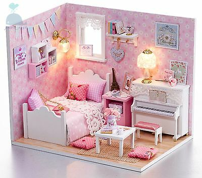 DIY Handcraft Miniature Project Dolls House My Little Angels Piano Room 2017