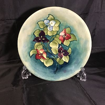 Moorcroft Bougainvillea Charger C1955 Signed Good Condition