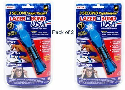 Lazer Bond - Liquid Resin Seals in Only 3 Sec (2 Packs) As Seen ON TV