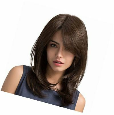Mufly Long Wave Ombre Wigs Synthetic Hair Full Wigs Realistic Wigs for Women Lac