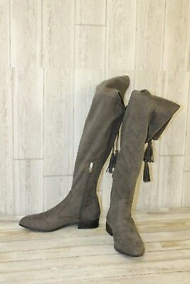 1cb2ff66260  230 MARC FISHER Alinda Over The Knee Gray Stretch Boots Women 5 M ...