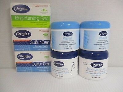 7 Dermisa Assorted Products - As Pictured - Exp: 6/18+ Jl 353