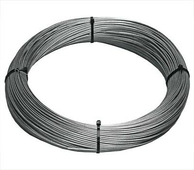 """T-316 Grade 7 x 7 Stainless Steel Cable Wire Rope 1/8""""- 100ft"""