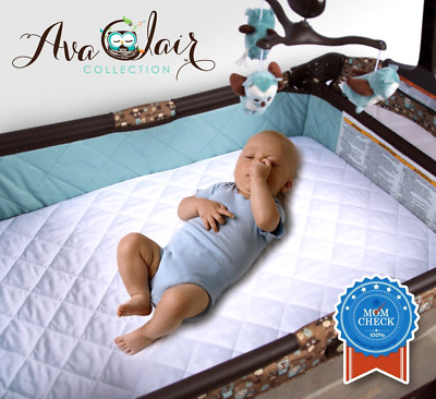 Baby Crib Mattress Protector for Mini Portable Crib Pack N Play Cover Bedding