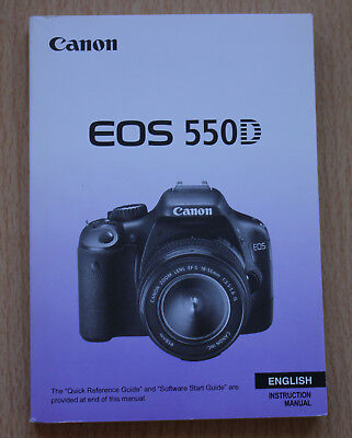User Manual Canon EOS 550D Rebel T2i Original ENGLISH