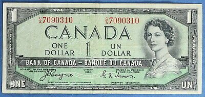 1954 - Bank of Canada - $ 1 - BC-29A  - Coyne-Towers - Devil's Face