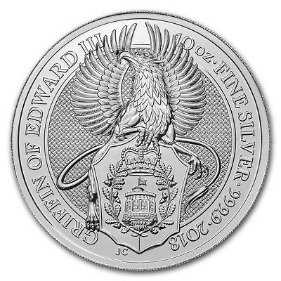 Special Price! 2018 Great Britain 10 oz Silver Queen's Beast The Griffin