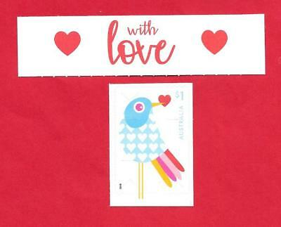"""2018 Australian """" With Love """" From Booklet~ Self Adhesive Stamp ~ Mint Un Hinged"""