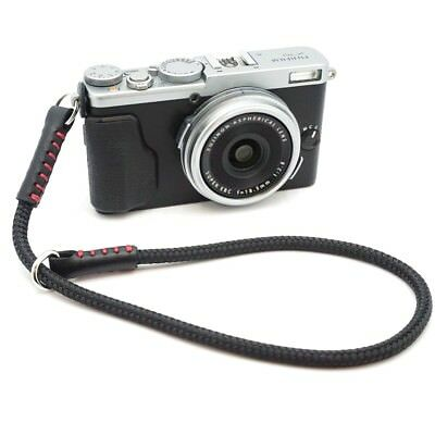 Silky Cord / Rope & Leather Camera Wrist Strap - Handmade by Cordweaver