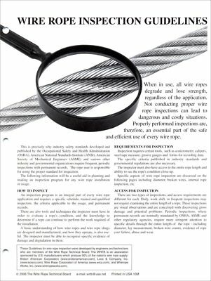 Wire Rope Inspection Guidelines 25/pack