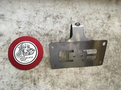 Stainless Steel Laser-Cut Lay Back License Plate Mount