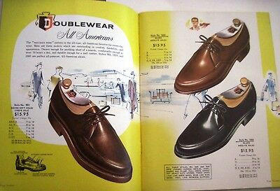 "Fantastic 1960 ""Kuechle's Doublewear Shoe Co."" w/ Bright Colored Pages *"