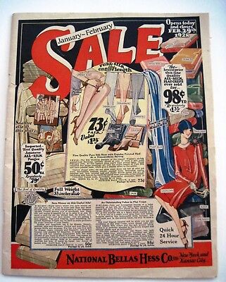 """1928 """"National Bellas Hess Co.""""Mail Order Catalog Lots of Colored Fashion Pages*"""