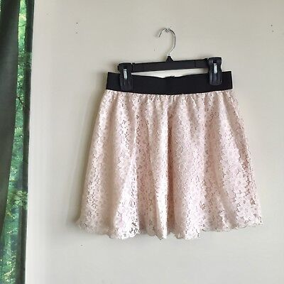 forever 21 victorian vintage style lace white cream color skirt size large