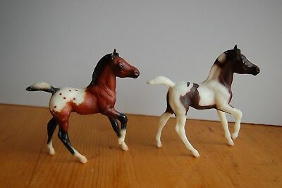 Vintage Breyer Classic Horse lot Andalusian Foals - pinto and appaloosa