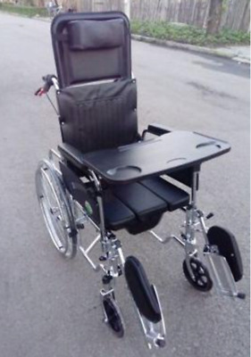 Commode dining and lay down wheelchair