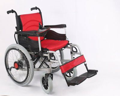 Dual Manual/Electric Wheelchair with upsized rear wheels