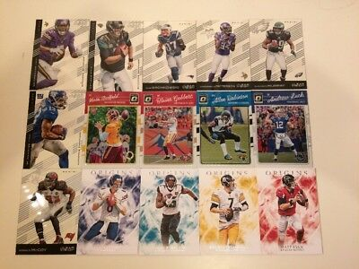 NFL Clear Vision Origins Optic O Cards Lot Of 15