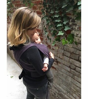 XOXO Baby Carrier Buckle Wrap, Eggplant Emoji Eco 2