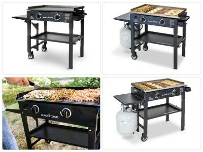Two Burner Griddle Cooker Gas Flat Top Grill Restaurant Cast Iron Pro Commercial